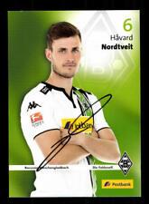 Havard Nordtveit Autogrammkarte Borussia Mönchengladbach 2015-16 Orig+A 188869