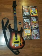Playstation 2 PS2 Guitar Hero SunBurst Wireless Controller w Dongle & 6 Games !!