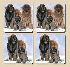 Leonberger Rubber Coasters Set of 4