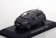 Peugeot 208 Année de construction 2015 Gris Foncé 1 43 NOREV