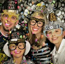 12pcs 2021 new year eve party supplies glasses frame happy new year