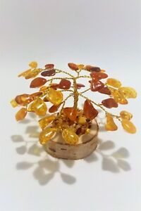 Amber Tree of Happiness  Willow Tree  8cm 100% Natural 45  Baltic  Amber Stones