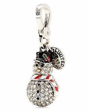 Juicy Couture Charm LTD 2011 Pave Snowman NEW Boxed $62