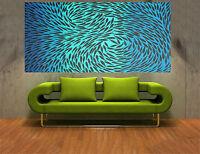 100cm original Art Painting fish dreaming By Jane Crawford aboriginal australia