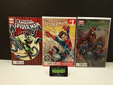 Lot 3- AMAZING SPIDER-MAN 700 VARIANT, #1 AND BIANCHI VENOM CARNAGE VARIANT NM+