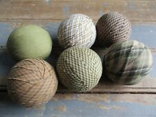 "Rag Balls Decorative Bowl Filler Rustic Table Decor Shades of Green 2.5"""