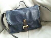 Autograph M&S Leather Crossbody Messenger Shoulder Bag Small Black
