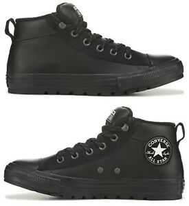 New CONVERSE Chuck Taylor Sneaker boot trail Mens leather black sizes 10 13