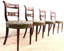 1 Eleganter Empire Stil Stuhl engl. Salonstuhl Holzstuhl Mahagoni 4 Vorhanden