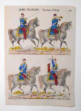 Gravure sur bois - Imagerie Populaire - Armée Française - Chasseur d'Afrique