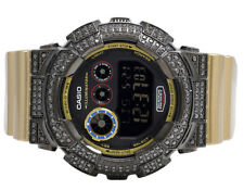 Mens Casio G-Shock GD120CS-1 Digital 51MM Black Simulated Diamond Watch 6.0 Ct