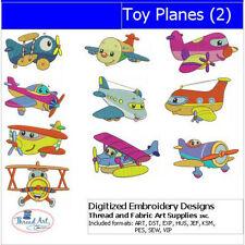 Embroidery Design CD - Toy Planes(2) - 10 Designs - 9 Formats - Threadart