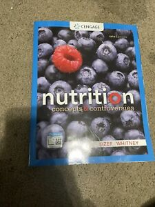 """""""Nutrition Concepts And Controversies"""" 15th Edition By Sizer   Whitney Used"""