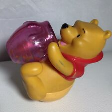 Vintage Licensed Disney Winnie The Pooh Big Bottom Shaker Rolling Honey Pot Toy