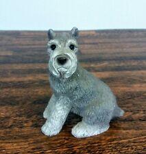 Stone Critters Schnauzer Dog Figurine United Designs Resin Sitting Gray Sc-164