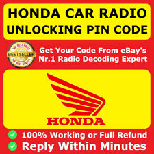 HONDA RADIO 4 DIGIT CODE CR-Z Insight Legend Pilot City CRV Civic Jazz Accord