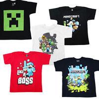 Kids Official Minecraft T-shirt Age 3-14 Choice of Designs Creeper Steve, Sword