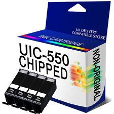 4 Large Black Chipped Ink Cartridge Replace For Canon PGI550PGBK PGI-550PGBK