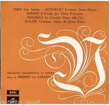 Verdi, Mussorgsky, Borodin, Ponchielli, Wagner / Karajan LP Columbia QCX 10192
