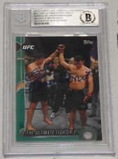 Forrest Griffin & Stephan Bonnar Signed UFC 2015 Topps Chronicles Green Card BAS