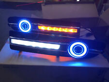 2x LED Daytime Running Fog Lights Lamp DRL For Volvo S80 2009-2013 + Angel Eyes