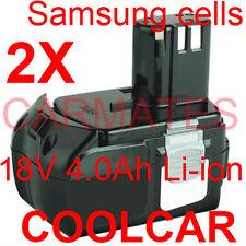 2 Batteries For Hitachi 18V Samsung Cell 4.0Ah Li-ion BCL1840 DV18DCL WH18DL