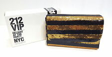 CAROLINA HERRERA 212 VIP DELIGHT AT THE PARTY NYC SEQUIN CLUTCH BAG *BOXED