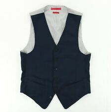 John Varvatos 100% Wool Waistcoat Vest Men's Size Small Navy Blue