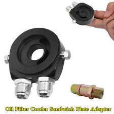 """Universal Aluminum Oil Cooler Adapter 1/8"""" NPT Filter Sandwich Plate M20x1.5"""