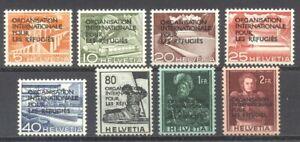 SWITZERLAND #6O1-8 Mint - 1950 Refugees Set ($88)