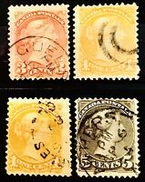 CANADA QV 1882 4 OLD UNCHECKED STAMPS MIXED CONDITION SOME FLAWS 06140620