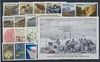 Island Jahrgang 1986 postfrisch in den Hauptnummern kompl.......................