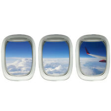 VWAQ Airplane Window Decal Cloud View Peel and Stick Aviation Wall Art Airplanes