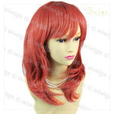 Wiwigs Long Faceframed Wavy Neon Pink Cosplay Party Hair Ladies Wig