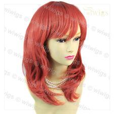 Wiwigs lungo faceframed Ondulato Neon Rosa Cosplay parrucca di capelli Festa Donna