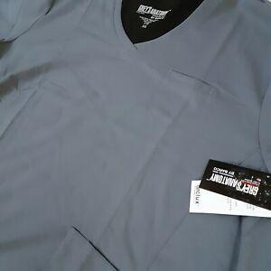 Grey's Anatomy Womens 5XL Granite Gray Four Pocket Princess V-neck Scrub Top New