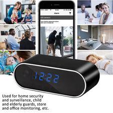 Wireless WIFI Clock Camera Mini DVR Camcorder Table Clock 1080P HD Camera Alarm