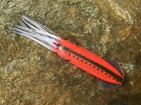 """RASTA 3D SQUIRT SQUID 9/"""" FISHING LURE GREAT FOR DREDGES DAISY CHAINS"""