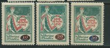 Latvia. 1920. Stamps with overprint.  Mi 55-57, SC 83-85.MH