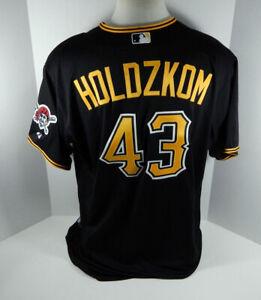 2015 Pittsburgh Pirates John Holdzkom #43 Game Issued Black Jersey PITT33142