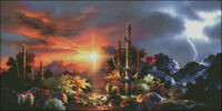 Needlework Crafts Full Embroidery Counted Cross Stitch Kits 14 ct Desert