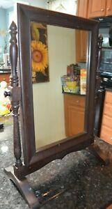 Antique Wooden Dresser Tilt Mirror
