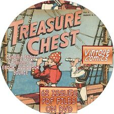 TREASURE CHEST VINTAGE COMIC BOOK - 62 ISSUES - PDF FILES - ON DVD - CATHOLIC