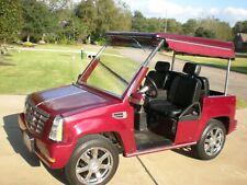 "Burgundy ACG ""Cadillac Escalade"" LSV 4 Passenger STREET LEGAL Golf Cart."