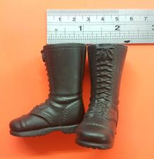 1/6 scale Black plastic Boots for 12 inch Action man figure