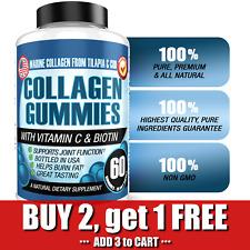 Hydrolyzed Marine Collagen Gummies Hair Skin Nails Gummy Supplement Vitamin C
