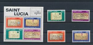 LN74625 St Lucia 1980 London stamp expo fine lot MNH