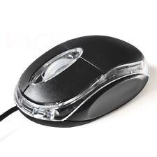 Raton USB Luz Led Rojo 800 DPI Mouse Optico Negro para Portatil PC Windows 7 10