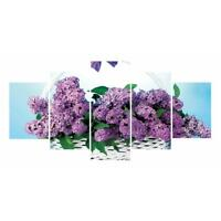 Violet 5D DIY Full Drill Diamond Painting 5-picture Combination Cross Stitch Kit