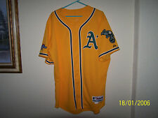 MIKE GALLEGO 2013 OAKLAND A'S ATHLETICS GAME USED POST SEASON JERSEY MLB COA